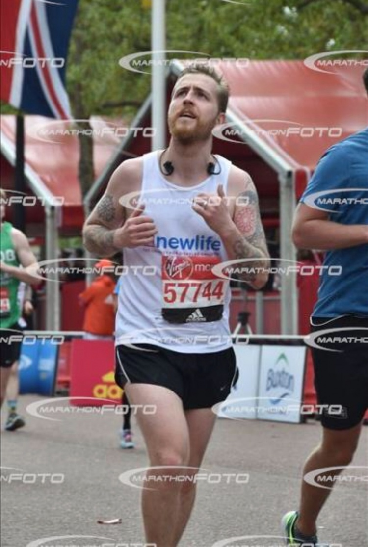 Anthony in action at the London Marathon in 2017