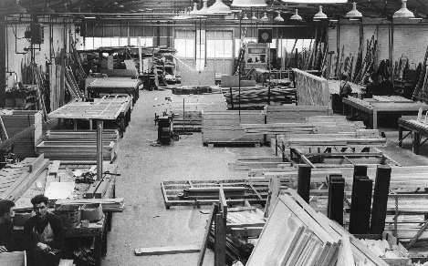 Vic Hallam timber-frame factory